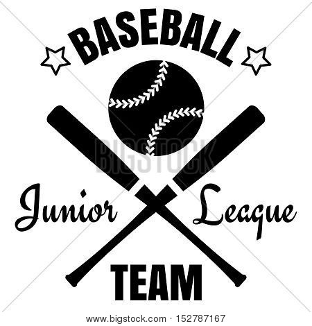 Baseball logo design. Black baseball logo isolated on white. Vector illustration