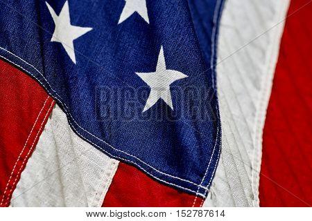 Close Up Of An Amercian Flag