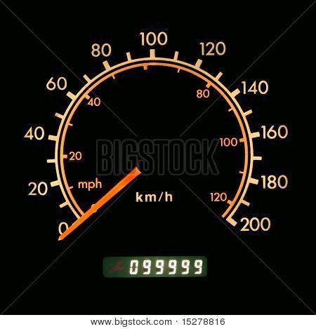 Odometer at 99999 kilometers