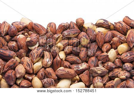 Roast Tiger Peanuts Isolated on White Background