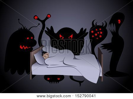 Nightmare - Vector illustration - EPS .
