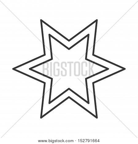 star shape icon. sketch and draw design. vector illustration