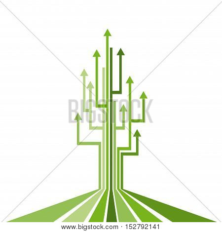 Abstract vector concept of growth, arrows up