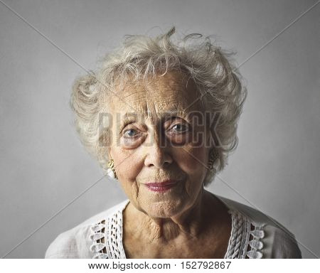 Beautiful elderly woman's portrait