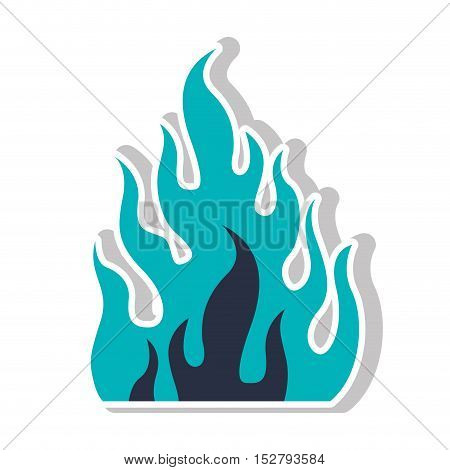 fire flame burning icon silhouette. vector illustration