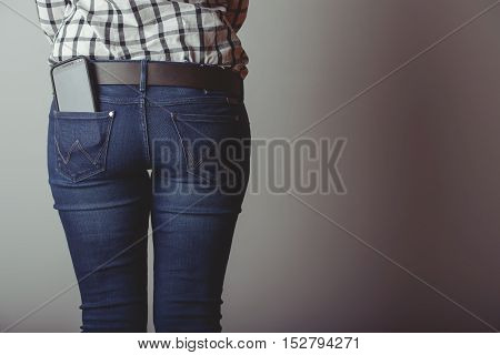 Smartphone In The Pocket Of Jeans