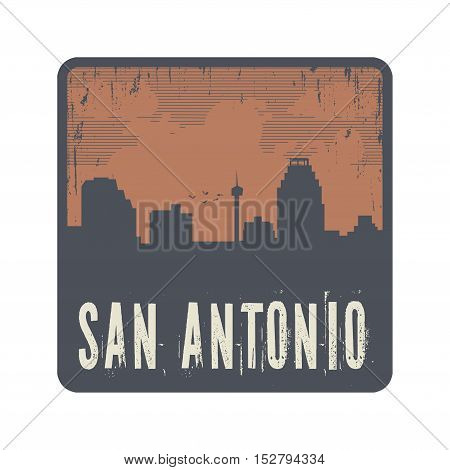 Grunge vintage stamp with text San Antonio vector illustration