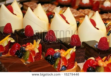 Colorful pastries.