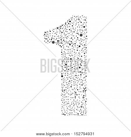 Number logotype vector design. Excellent illustration. Modern numbers circle grey symbol icon.