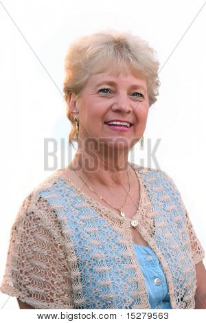 Oma, isolated on White.