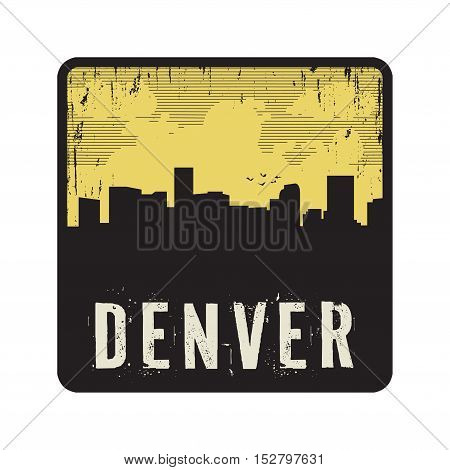 Grunge vintage stamp with text Denver vector illustration