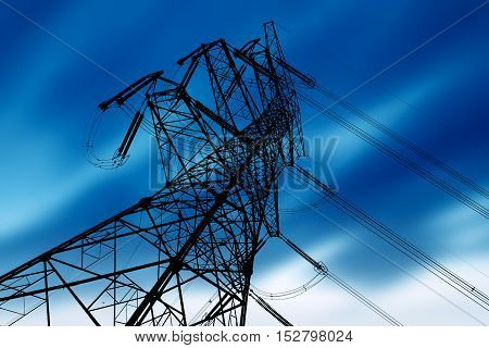 Steel Structure of High Voltage Transmission Tower.
