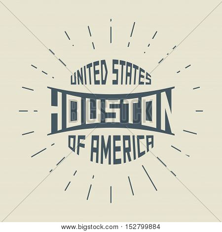 Grunge vintage round stamp with text HoustonTexas vector illustration