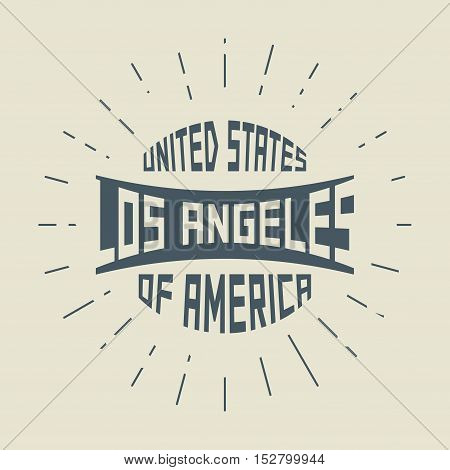 Grunge vintage round stamp with text Los Angeles California vector illustration