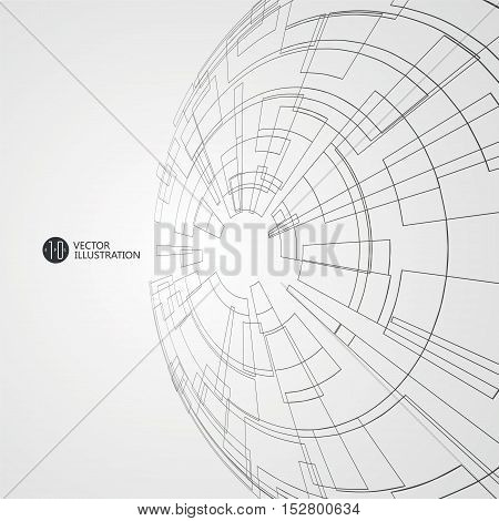 Abstract wireframe,Vector graphics design, science and technology illustration.