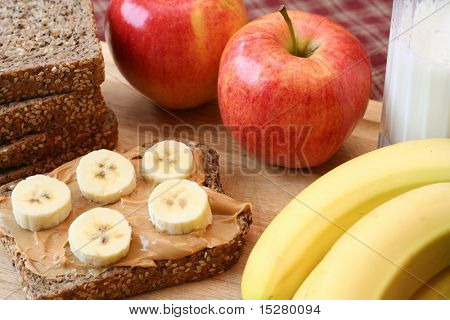 Peanut butter and banana sandwich.