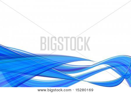 Blue abstract transparent waves.