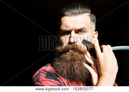 Young Man With Razor