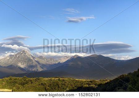 Panoramic mountain Italy - Monti della Laga - Aquila Italy