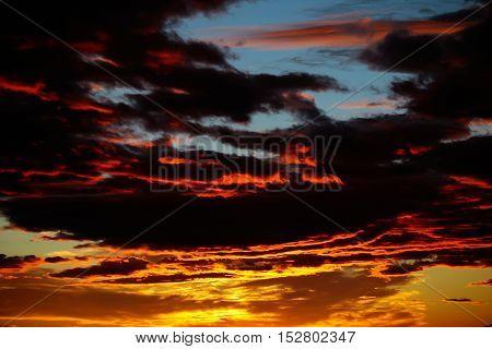 Dark Sunset Sky