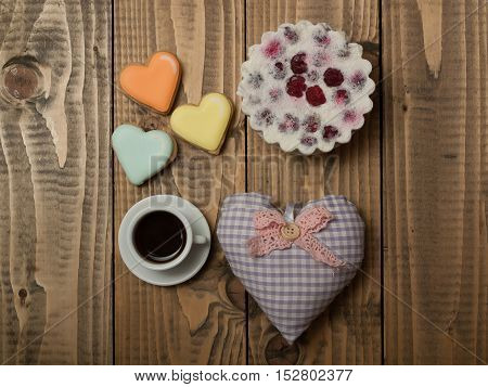 Tasty Biscuit And Heart Pillow