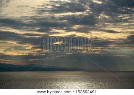 Spectacular Sky Over Sea