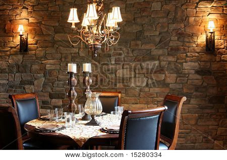 Elegantly set table at a restaurant.