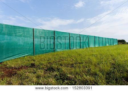 Construction Boundary Blinds