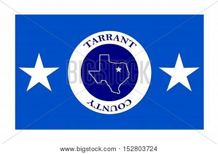 Flag of Tarrant County in Texas State, USA. Vector