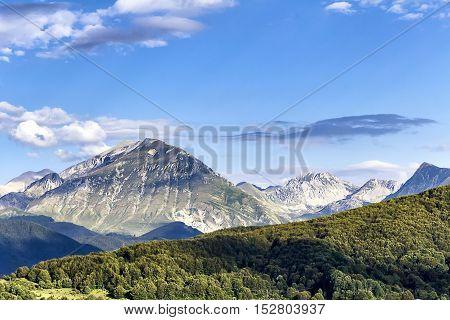 Panoramic Apennine Italy - Monti della Laga - Aquila Italy