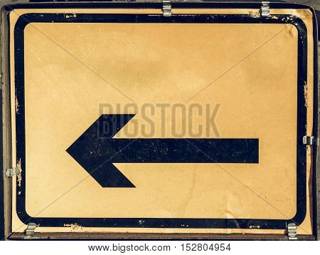 Vintage Looking Direction Arrow Sign