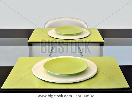 Contemporary table setting