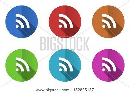 Internet flat vector icon