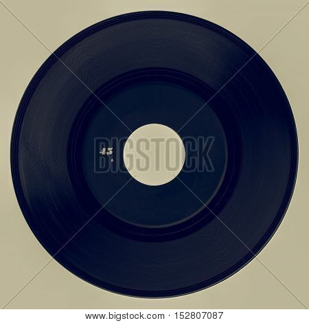 Vintage Looking Vinyl Record