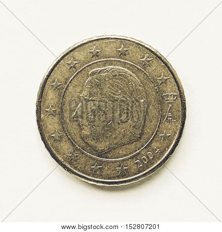 Vintage Belgian 50 Cent Coin
