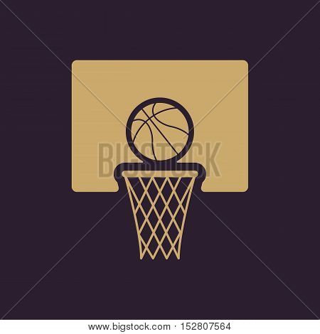 The basketball icon. Game symbol. Flat Vector illustration