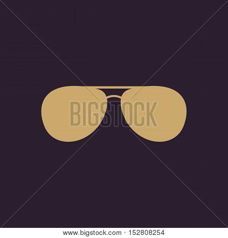 The sunglasses icon. Glasses symbol. Flat Vector illustration