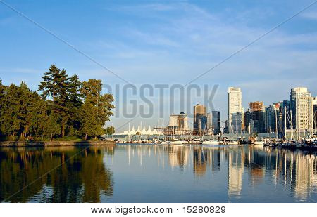 Vancouver, Canada, view from Stanley park.