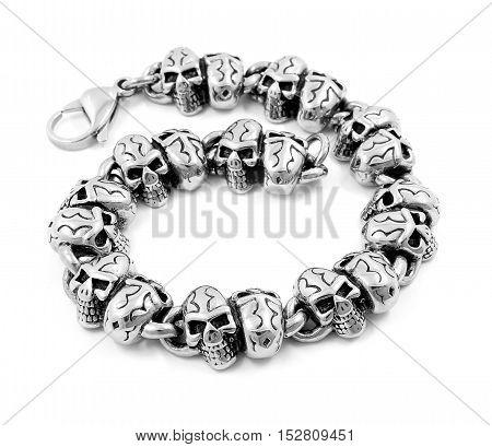 Bracelet For Men - Skulls - Stainless Steel