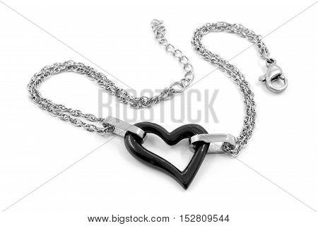 Bracelet For Women - Stainless Steel And Ceramics