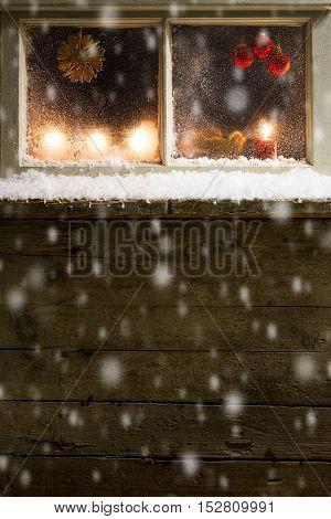Christmas Decoration On A Window 35