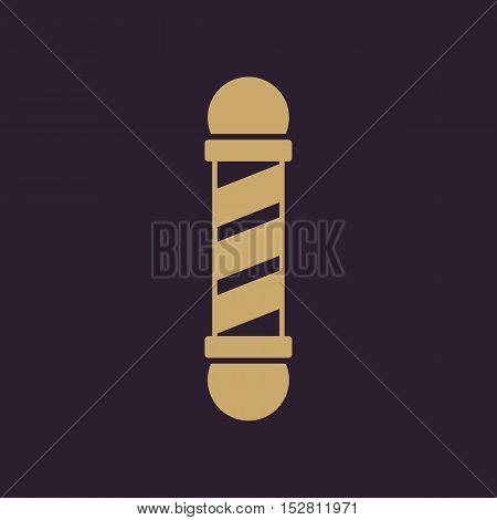 The Barber Pole icon. Barbershop symbol. Flat Vector illustration