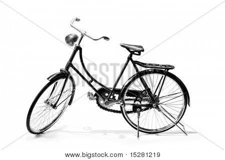 Bicycle isolated on white.