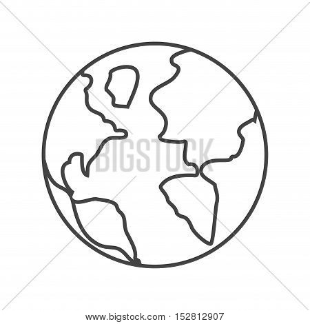Planet icon. Earth sphere and world theme. Isolated design. Vector illustration