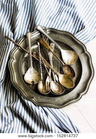 Vintage Silverware And Plate