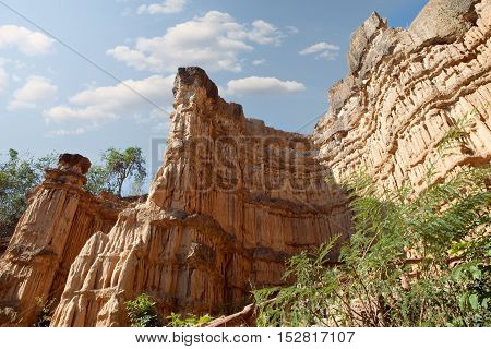 view of nice giant rock in  national park