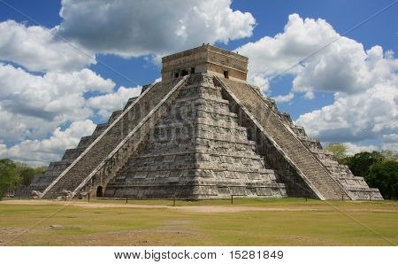 Chichen Itza, one of the seven wonders of the world.
