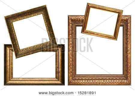 Collection of antique frames, add your own text.