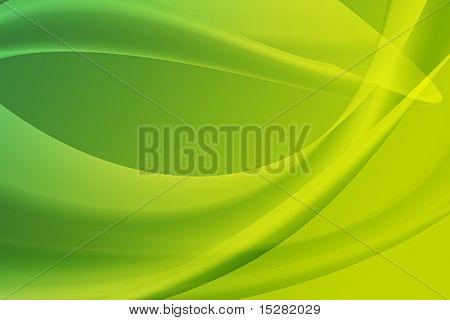 Abstrakte grünen Kurven.