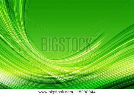 Vibrant green abstract.